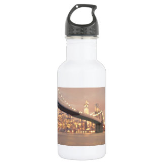 ニューヨーク-夢みるような《写真》ぼけ味のブルックリン橋 532ML ウォーターボトル