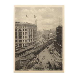 ニューヨーク、年1902年、第6道および33rrd通り ウッドウォールアート