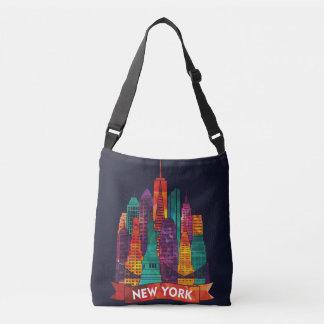 ニューヨーク-有名な陸標への旅行 クロスボディバッグ