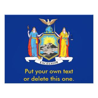 ニューヨーク、米国の旗が付いているフライヤ チラシ