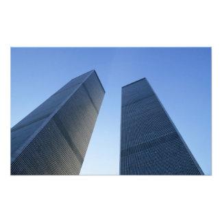 ニューヨーク、米国。 眺めのツインタワーで フォトプリント