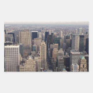 ニューヨーク 長方形シール