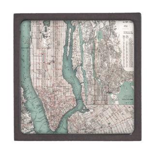 ニューヨーク(1897年)のヴィンテージの地図 ギフトボックス