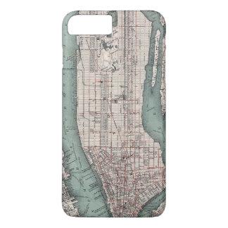 ニューヨーク(1897年)のヴィンテージの地図 iPhone 8 PLUS/7 PLUSケース