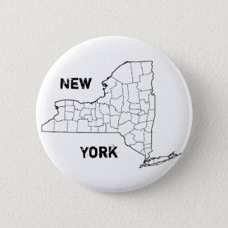 ニューヨーク 5.7CM 丸型バッジ