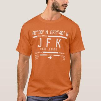 ニューヨークJFKの国際空港コード Tシャツ