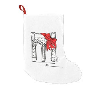 ニューヨークNYCブルックリン橋のChrismasのストッキング スモールクリスマスストッキング