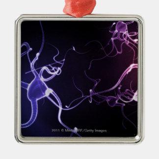 ニューロンのカラフルな描写 メタルオーナメント