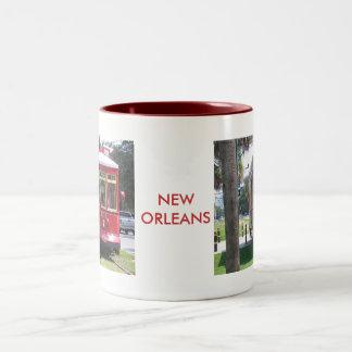ニュー・オーリンズの市街電車 ツートーンマグカップ