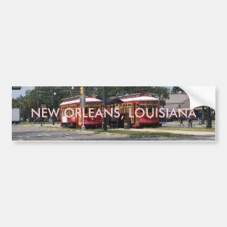 ニュー・オーリンズの市街電車 バンパーステッカー