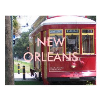 ニュー・オーリンズの市街電車 ポストカード