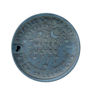 ニュー・オーリンズの水道メーターの写真 磁器プレート