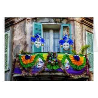 ニュー・オーリンズの謝肉祭のマスク カード