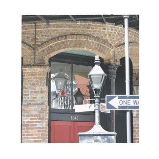 ニュー・オーリンズの通り場面 ノートパッド
