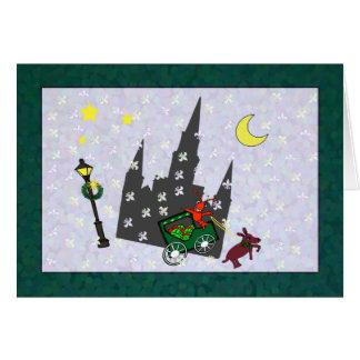 ニュー・オーリンズのCrawfishのラバのおかしなカテドラルのクリスマス カード