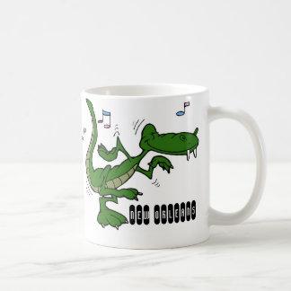 ニュー・オーリンズのDancin コーヒーマグカップ