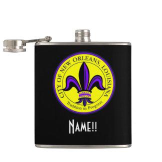 ニュー・オーリンズのLAの(紋章の)フラ・ダ・リ市をカスタマイズ フラスク