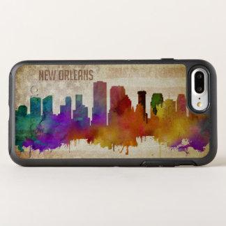 ニュー・オーリンズのLA |の水彩画都市スカイライン オッターボックスシンメトリーiPhone 8 PLUS/7 PLUSケース