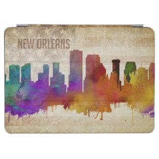 ニュー・オーリンズのLA |の水彩画都市スカイライン iPad AIR カバー