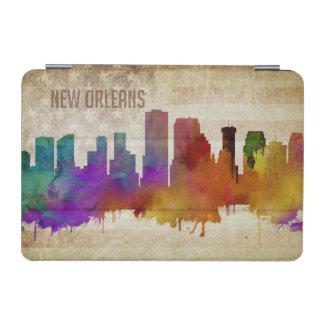 ニュー・オーリンズのLA |の水彩画都市スカイライン iPad MINIカバー