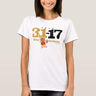 ニュー・オーリンズはスコアに31-17人の女性を上自慢して見せます Tシャツ