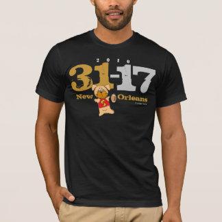 ニュー・オーリンズはスコア31-17に黒いTシャツを自慢して見せます Tシャツ
