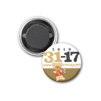 ニュー・オーリンズはスコア31-17の磁石を自慢して見せます マグネット