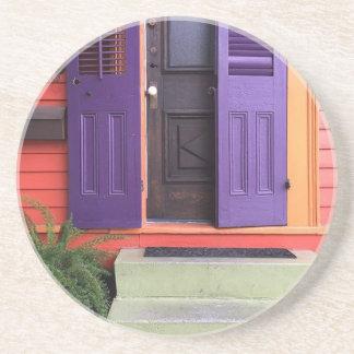 ニュー・オーリンズカラフルなMarignyの家 コースター