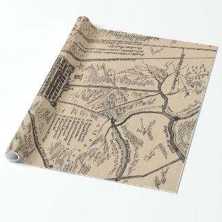 ニュー・オーリンズルイジアナの(1798年の)ポスターのヴィンテージの地図 ラッピングペーパー