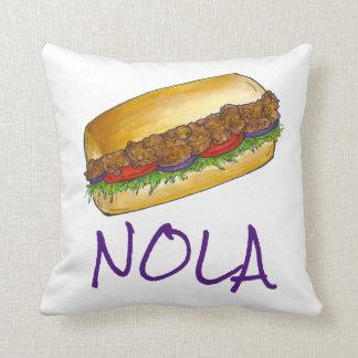 ニュー・オーリンズルイジアナノラのエビのPo'boyの枕 クッション