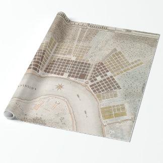 ニュー・オーリンズルイジアナ(1817年)のヴィンテージの地図 ラッピングペーパー