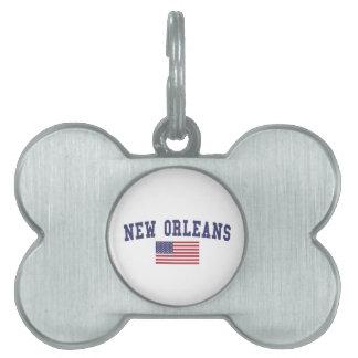 ニュー・オーリンズ米国の旗 ペットネームタグ