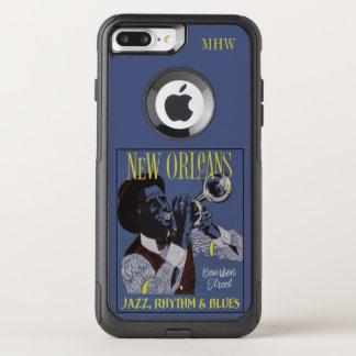 ニュー・オーリンズ音楽カスタムなモノグラムのケース オッターボックスコミューターiPhone 8 PLUS/7 PLUSケース