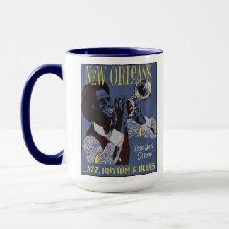 ニュー・オーリンズ音楽カスタムなモノグラムのマグ マグカップ