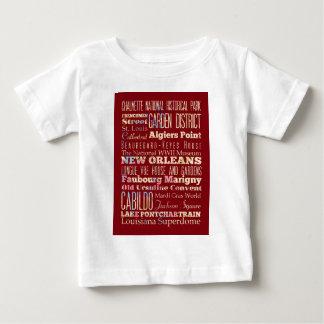 ニュー・オーリンズ、ルイジアナの有名な場所 ベビーTシャツ