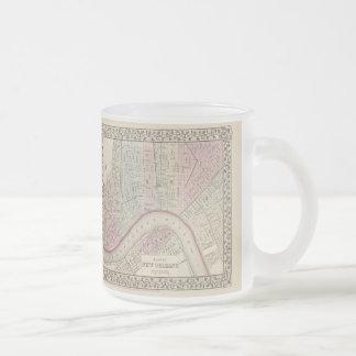 ニュー・オーリンズ(1880年)のヴィンテージの地図 フロストグラスマグカップ