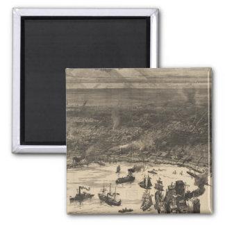 ニュー・オーリンズ(1884年)のヴィンテージの絵解き地図 マグネット