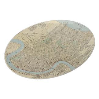 ニュー・オーリンズ(1919年)のヴィンテージの地図 プレート
