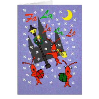 ニュー・オーリンズCarolingのCrawfishのクリスマス カード