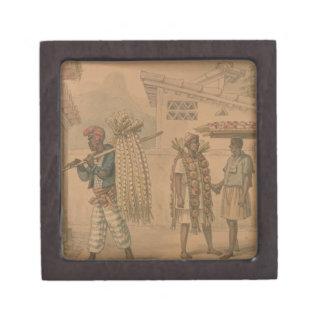 ニンニクおよびタマネギの販売人1826年(w/c紙で) ギフトボックス