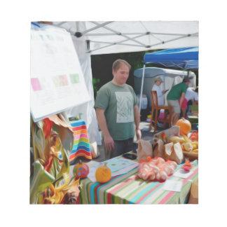 ニンニクのフェスティバルの売り手1 ノートパッド