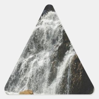 ニースの川の滝に水をまいて下さい 三角形シール