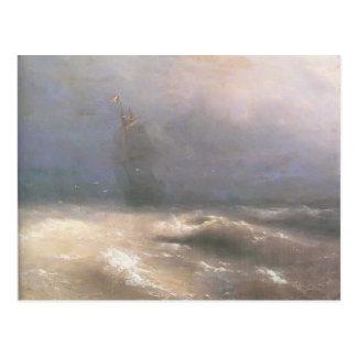ニースの海岸によるイヴァンAivazovsky-の暴風雨 ポストカード