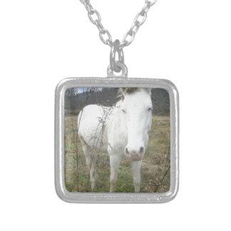 ニースの白馬をカスタマイズ シルバープレートネックレス