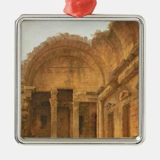ニーム1787年のダイアナの寺院のインテリア シルバーカラー正方形オーナメント