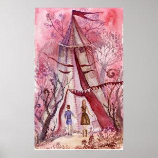 ニール・ゲイマンの本のためのイラストレーション ポスター