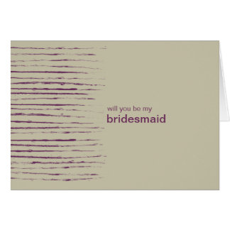 ヌガーは私の新婦付添人の招待状カードです カード