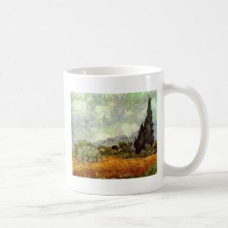 ヌマスギが付いているとうもろこし畑 コーヒーマグカップ