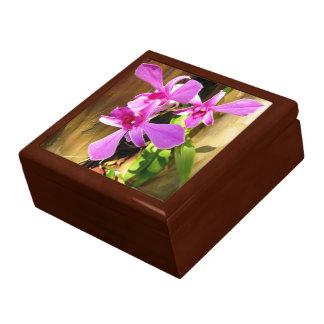 ヌマスギのセラミックタイルの装身具箱の蘭 ギフトボックス