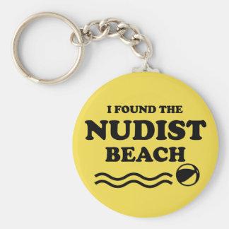 ヌーディストのビーチ キーホルダー
